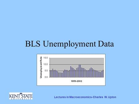 Lectures in Macroeconomics- Charles W. Upton BLS Unemployment Data.