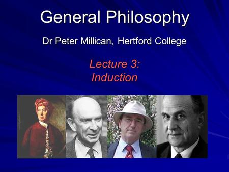 Dr Peter Millican, Hertford College