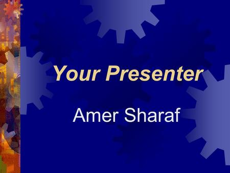 Your Presenter Amer Sharaf Electronic Payments: Where do we go from here? ByMarkus Jakobsson David Mraihi Yiannis Tsiounis Moti Yung.