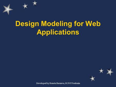 Design Modeling for Web Applications
