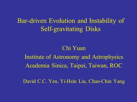 Bar-driven Evolution and Instability of Self-gravitating Disks