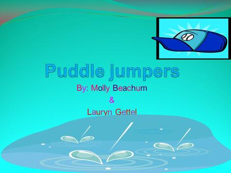 By: Molly Beachum & Lauryn Gettel. The characters Puddle Jumpers- a small elf-like creature, about the size of a ruler, that can jump into a puddle. When.