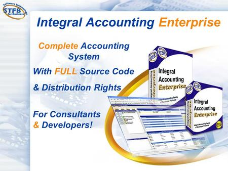 Integral Accounting Enterprise Complete Accounting System With FULL Source Code & Distribution Rights For Consultants & Developers!