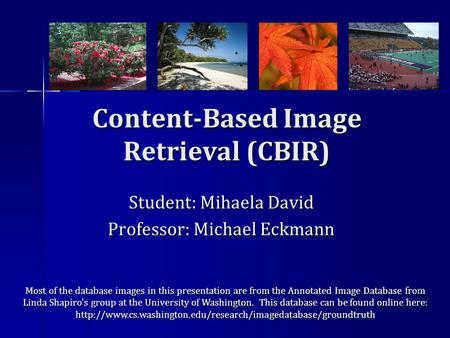 content based image retrieval cbir system Content based image retrieval of designing a content based image retrieval, cbir system by image content was developed by ibm3 cbir systems.