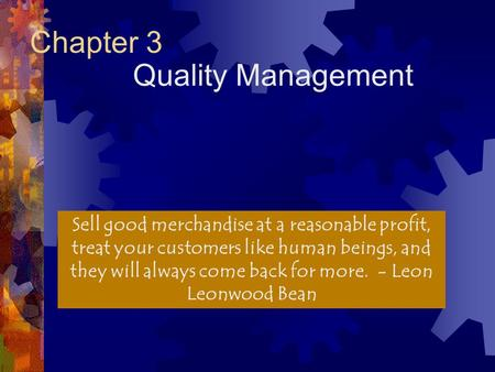 Chapter 3 Quality Management