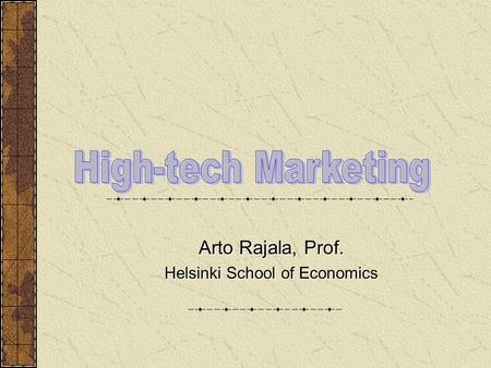 High Techonology <strong>Marketing</strong>