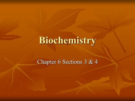 Biochemistry Chapter 6 Sections 3 & 4. Chemical Structure: Chemical Structure: O & H share electrons, but not equally O & H share electrons, but not equally.