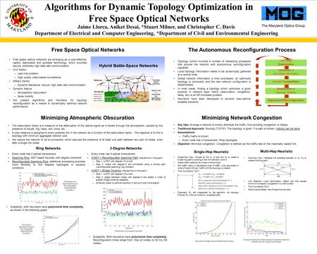 The Maryland Optics Group Multi-Hop View: Interfaces not available between (s, d): Try to create multi-hop path. Link Selection: Local Optimization: Select.