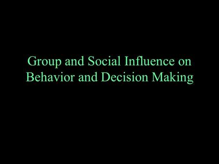 social influence on behavior Social influence on travel behavior: a simulation example of the decision to  telecommute first draft: july, 2004 working paper, do not cite without.