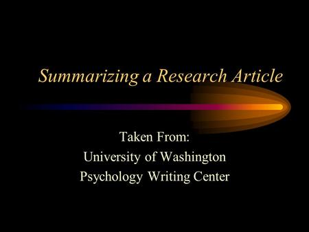writing literature review psychology