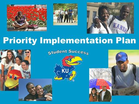 Priority Implementation Plan. Update Fall 2003 – Priorities identified December 2003 – Priority groups begin to meet to develop recommendations and reports.