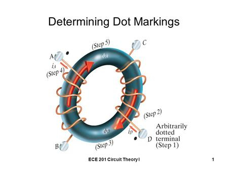 ECE 201 Circuit Theory I1 Determining Dot Markings.