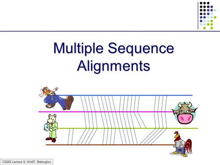 CS262 Lecture 9, Win07, Batzoglou Multiple Sequence Alignments.