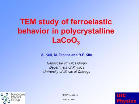 TEM study of ferroelastic behavior in polycrystalline LaCoO3