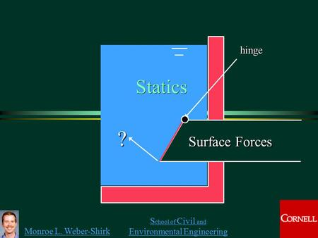 Hinge Statics ? Surface Forces.