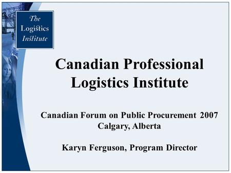Canadian Professional Logistics Institute