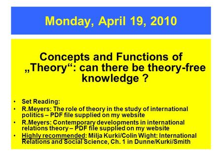 Theory of Knowledge: Introduction to Theory of Knowledge