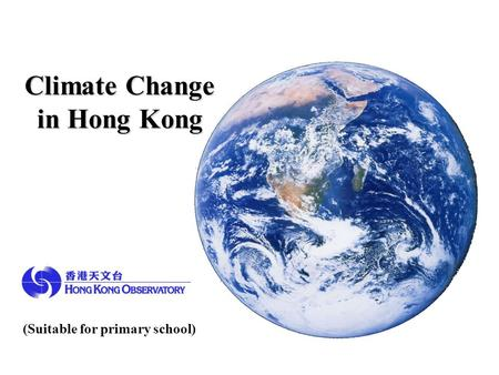 Climate Change in Hong Kong
