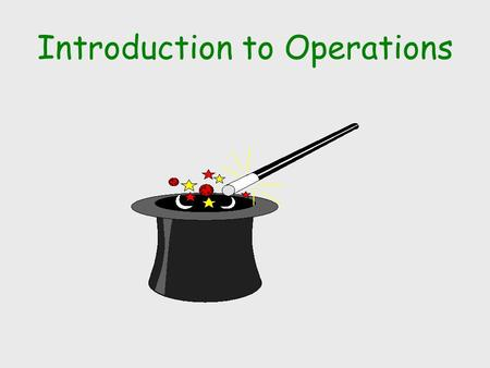 Introduction to Operations. WHAT IS OPERATIONS MANAGEMENT? Operations management is the design, operation, and improvement of the production systems that.