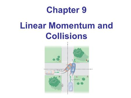 Chapter 9 Linear Momentum and Collisions. 9-1 Linear Momentum Momentum is a vector; its direction is the same as the direction of the velocity.