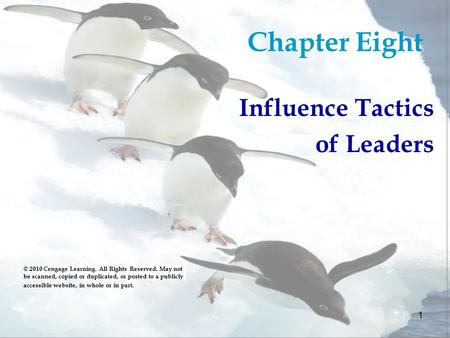 Chapter Eight Influence Tactics of Leaders