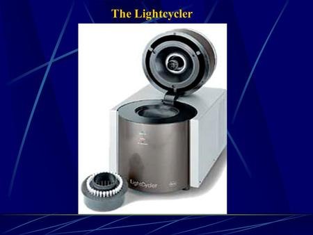 The Lightcycler. Carousel with capacity for 32 samples.