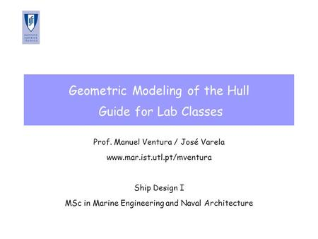 Geometric Modeling of the Hull Guide for Lab Classes