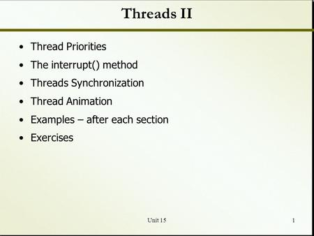 unit 141 threads what is a thread multithreading creating