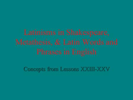 what is metathesis in linguistics Metathesis ( from greek μετάθεσις , from μετατίθημι i put in a different order latin : trānspositiō) is the rearranging of sounds or.