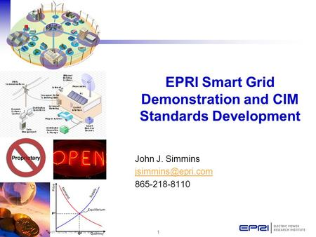 EPRI Smart Grid Demonstration and CIM Standards Development