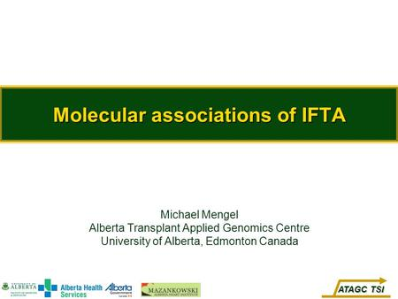 Molecular associations of IFTA
