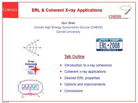 ERL & Coherent X-ray Applications