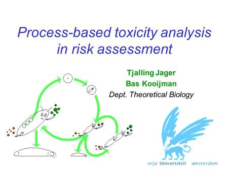 Process-based toxicity analysis in risk assessment Tjalling Jager Bas Kooijman Dept. Theoretical Biology.