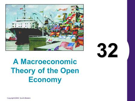 Copyright©2004 South-Western 32 A Macroeconomic Theory of the Open Economy.