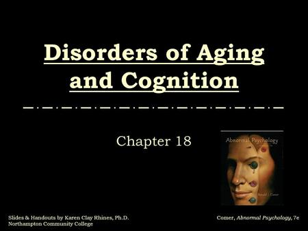 Disorders of Aging and Cognition