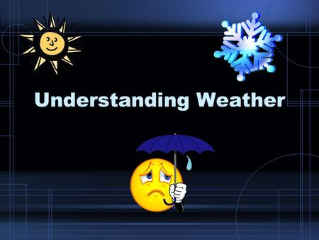 Understanding Weather. What is weather? The condition of the atmosphere at a particular time and place.