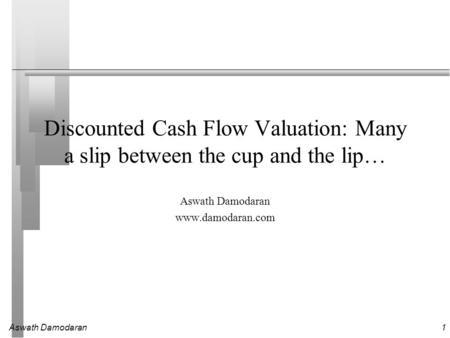 damodaran aswath investment valuation pdf