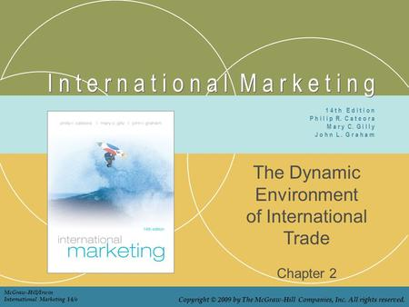 I n t e r n a t i o n a l M a r k e t i n g The Dynamic Environment of International Trade Chapter 2 1 4 t h E d i t i o n P h i l i p R. C a t e o r a.