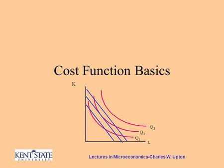 Lectures in Microeconomics-Charles W. Upton Cost Function Basics.