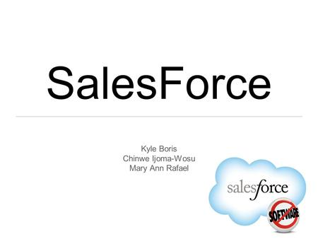 SalesForce Kyle Boris Chinwe Ijoma-Wosu Mary Ann Rafael.
