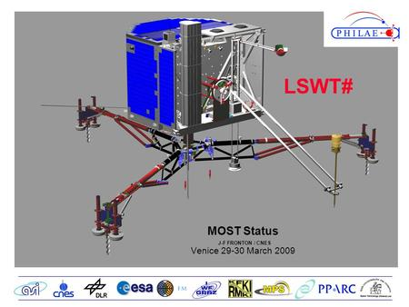 MOST Status J-F FRONTON / CNES Venice 29-30 March 2009 LSWT#