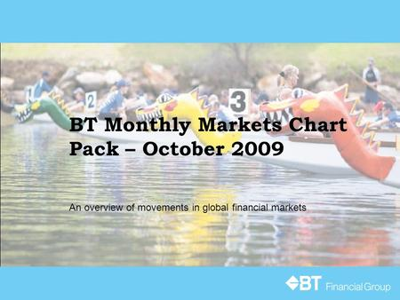BT Monthly Markets Chart Pack – October 2009 An overview of movements in global financial markets.