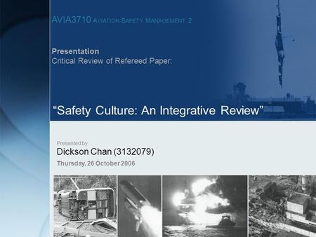 """Safety Culture: An Integrative Review"""