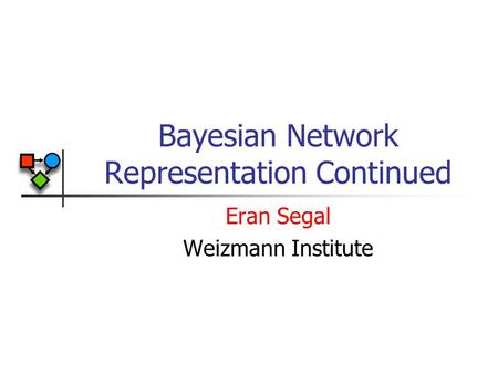 Bayesian Network Representation Continued