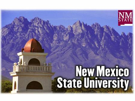 New Mexico State University. Background –Land in New Mexico Small fraction urban or cultivated Mostly rangelands –grasslands, shrublands, –woodlands,