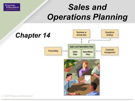 © 2007 Pearson Education Sales and Operations Planning Chapter 14.