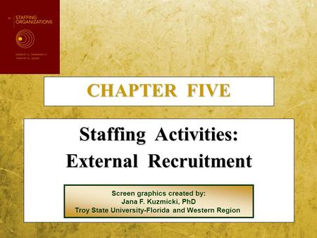 Staffing Activities: External Recruitment
