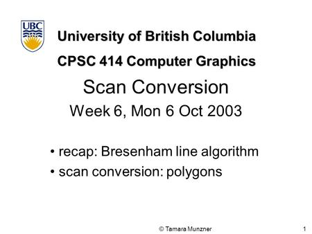 scan conversion in computer graphics pdf