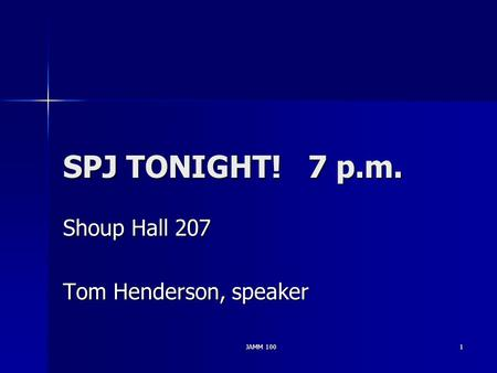 Shoup Hall 207 Tom Henderson, speaker