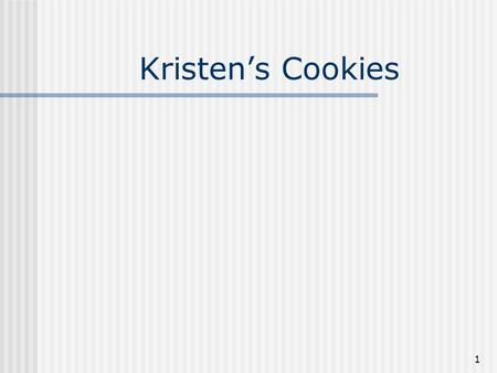 1 Kristen's Cookies. 2 Examples of a Process in Service Companies Processing an insurance claim for an accident. Admitting a patient to a hospital. Performing.